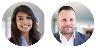 Olivier Dolder | Recruiting Partner  und Lakshana Sinnadurai | Junior Recruiting Partner
